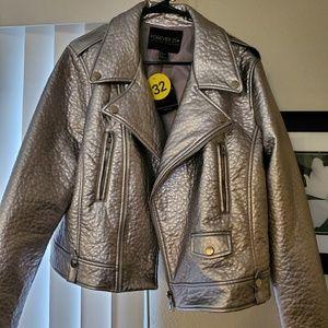 Metallic Moto Jacket- 1X